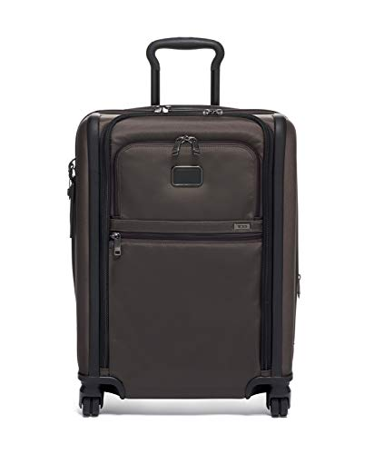 TUMI - Alpha 3 Continental Dual Access 4 Wheeled Carry-On Luggage - 22 Inch Rolling Suitcase for Men and Women - Coffee