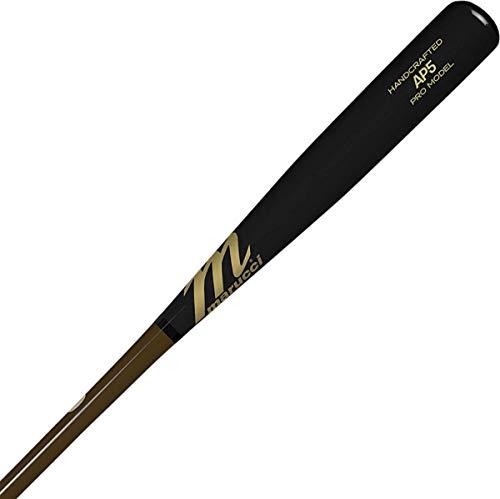 Marucci AP5 Pro Model Maple Wood Baseball Bat, Brown/Black, 33