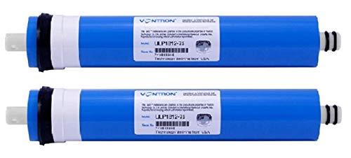 Planet-Aqua 2 x Membran 75 GPD bis zu 270 L/Tagesl. für Osmoseanlage Wasserfilter Umkehrosmose Osmose Filter Membrane gegen Kalk, Salze Entsalzung Nitrat Bakterien Viren Keime Aquarium Wasser