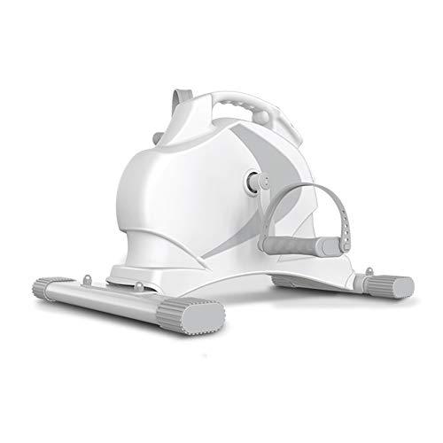 GGD Pedal Exerciser tragbaren Mini-Heimtrainer, bewegliches Haupt Pedal Exerciser, Arm- und Beintrainer, Heimtrainer Innenaufnahme,White
