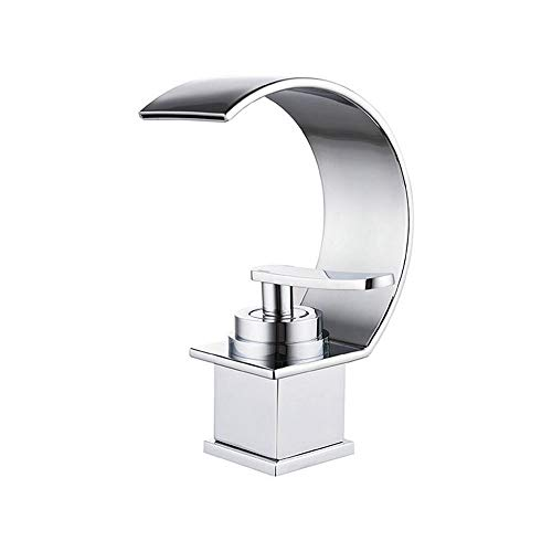 Grifo Grifo (agua); Toque; Banco de bibcock sobre el cuenco de mostrador de la cuenca Hot y frío Mezcla Faucet Baño Bath Faucet Faucet Cuadrado Cascada Faucet Ahorro de agua Salpicaduras de salpicadur