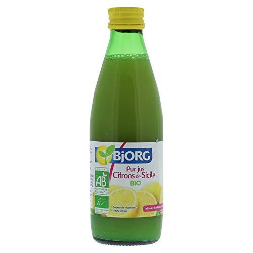 Bjorg Pur Jus de Citrons de Sicile - 100% jus de citron bio - Source de vitamine C - 25 cl