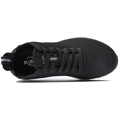 Zapatillas Deporte Hombres Running Zapatos para Correr Gimnasio Caminar Sneakers Ligeras Zapatillas Casual para Exterior y Interior Negro 42