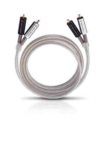 Oehlbach Silver Express - Cable RCA de Audio 2,0 m Plata
