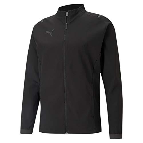 PUMA Herren, teamCUP Sideline Jacket Trainingsjacke, Black-Asphalt, XXL