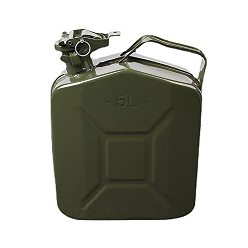 WUSHUN Bidón de gasolina, bidón de metal, chapa de acero, bidón de combustible, para gasolina, diésel y otros productos peligrosos, 5/10 L