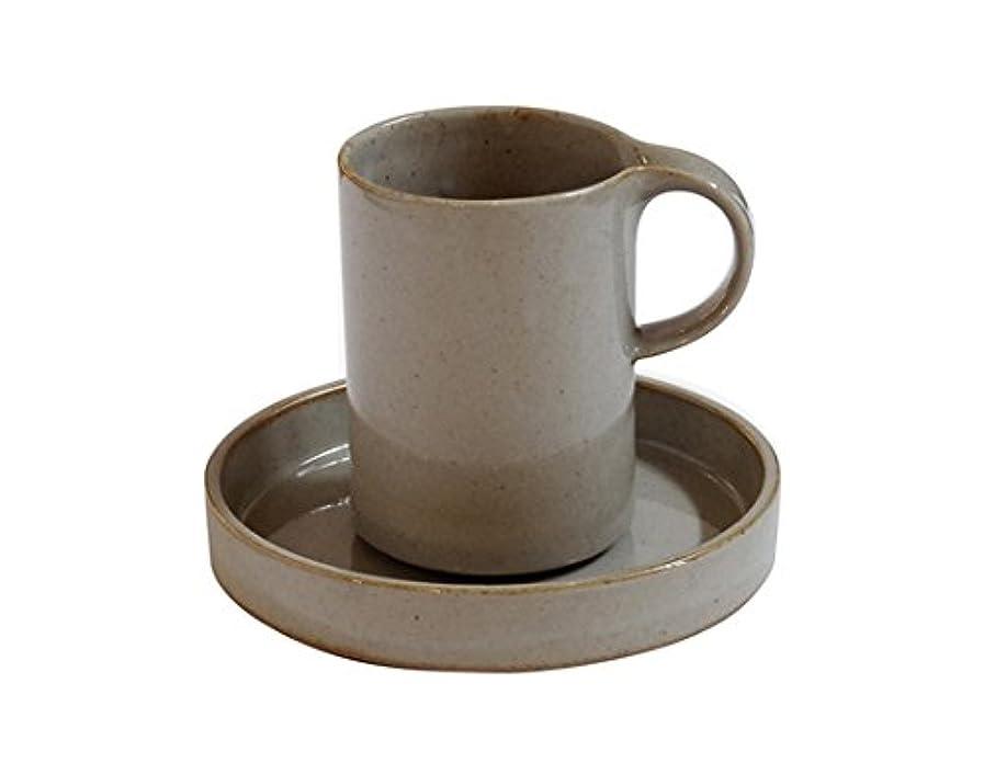 眉冒険者殉教者Ceramic Japan/セラミックジャパン モデラート ハイカップ&ソーサー(グレー)