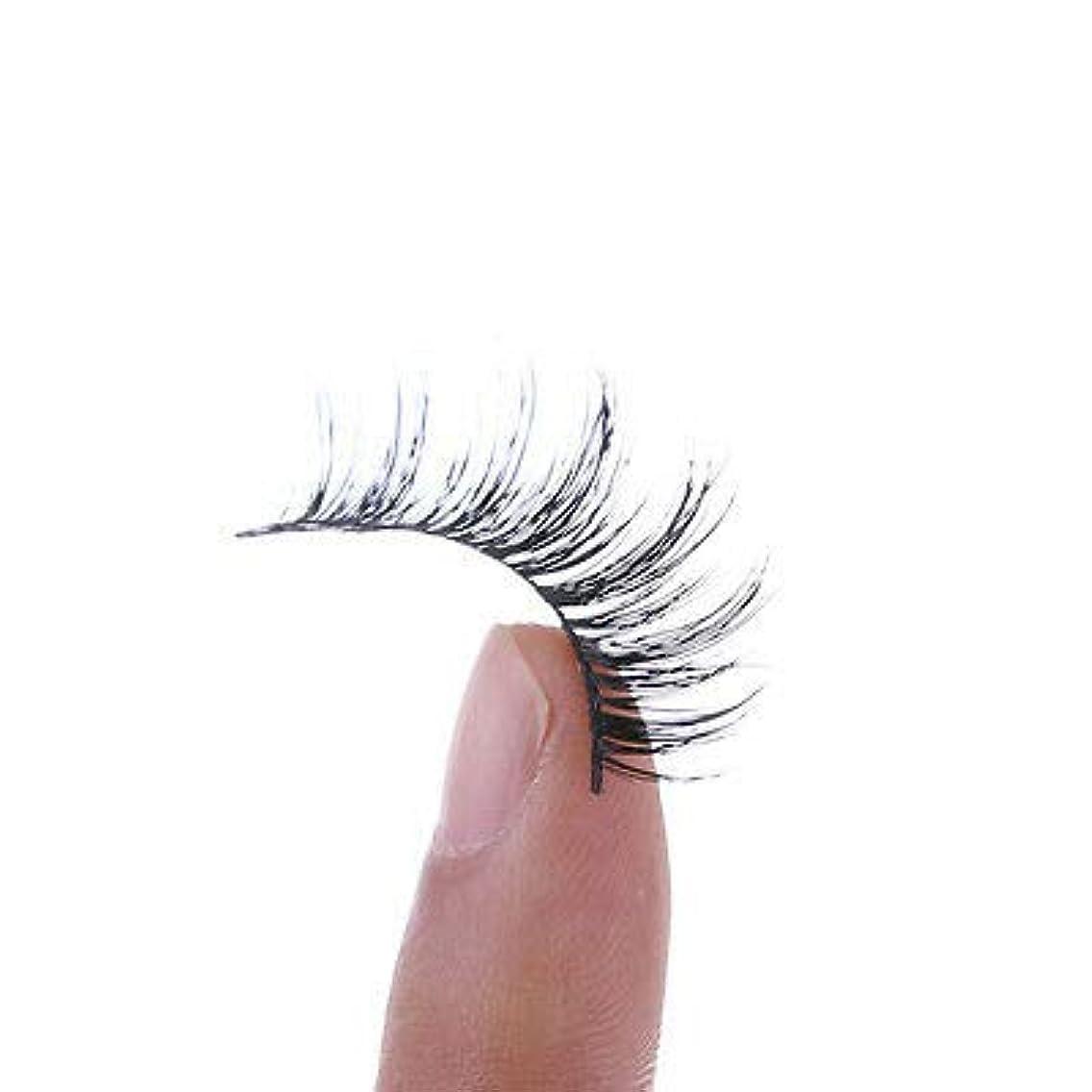 連続した流行開始FidgetGear 1ペアクロス手作りつけまつげまつげエクステンション100%リアルミンク髪