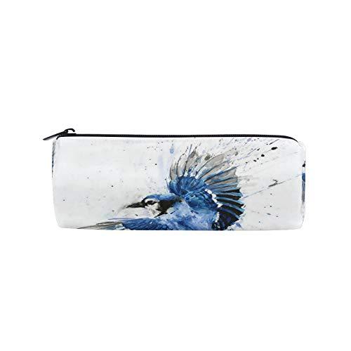 JNlover - Estuche para lápices con diseño de pájaros, redondo, para escritorio, para adolescentes, niños, oficina