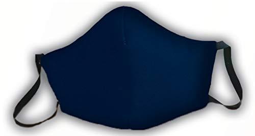 Mascarilla reutilizable azul lisa sin bandera de España original elegante