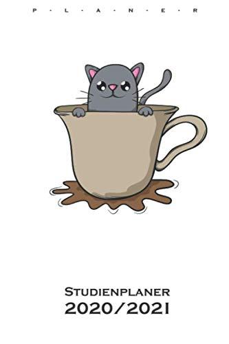 Katze Kaffee Kakao Tee Kater Maus Studienplaner 2020/21: Semesterplaner (Studentenkalender) für Katzen- und Tierfreunde