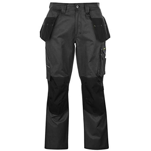 Dunlop Herren Marathon Cargo Arbeitshose Hose Mit Taschen Arbeitskleidung Schwarz Extra LGE