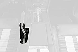 RedlineGoods ebrake Boot Compatible with Ford Mustang 2010-14. Black Leather-Black Thread