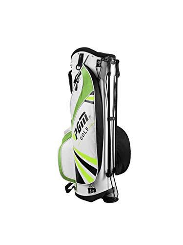 CHENG BAG Sac à Dos de Golf, Unisexe Grande Capacité 6 Pôle Paquets Nylon Imperméable Poids Léger Base Stable Multifonction Sac à Main Portable (Couleur : Vert)
