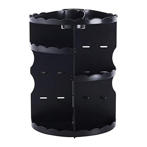 360 ° Cosmétique Boîte De Rangement Transparent Acrylique En Plastique Bureau Surface Dressing Table Soins De La Peau Rouge À Lèvres Brosse Finition Rack 23.5 * 34.5cm (Couleur : A)