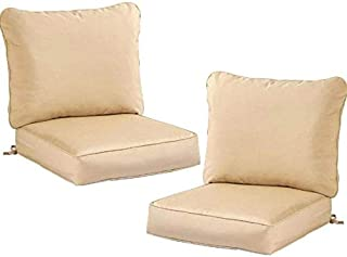 Greendale Home Fashions Deep Seat Cushion Set Stone, Set of 2 + Free Home Decor