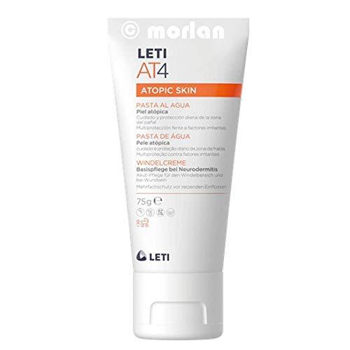 Laboratorios Leti AT4 - Crema pañal para pieles atópicas o secas, 2 x 75 g