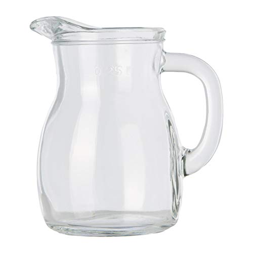 Bormioli Rocco 146140 Bistrot Krug, mit Füllstrich bei 0,25l, Glas, transparent, 1 Stück