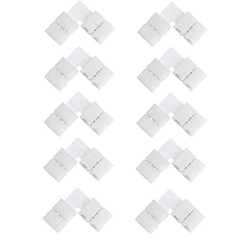NIDONE de Tipo L 2-Pin Accesorio de unión de Esquina lámpara LED para 10mm SMD 050 3528 5630 2835 10PCS Tira lámpara monocromático