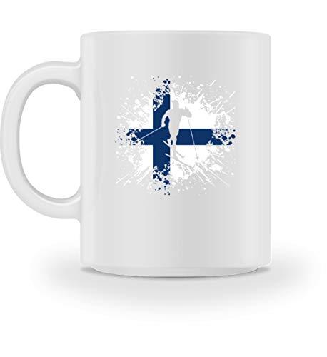 Taza de café con texto en inglés 'Skilanglauf Finlandia' | regalo para los fans de los deportes de invierno Blanco M