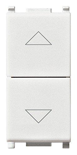Vimar Commutatore 2P 10Ax a Due Tasti, Bianco