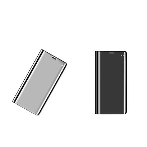 balikha 2 Piezas de Chapado en Espejo Clear View Flip Case Bumper Cover para J7 Prime