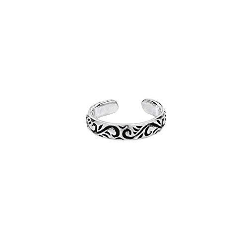 Nklaus 7204 - Anillo de plata de ley con diseño de dedo celta gótico