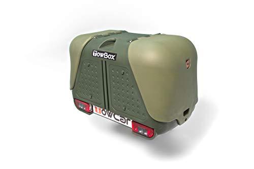 TOWBOX V2 Gepäckbox für Anhängerkupplung | Grün | Hunde Transportbox | Gepäckträger
