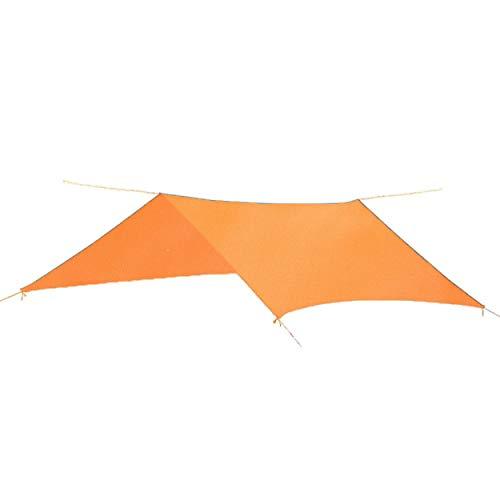 TRIWONDER Toldo de Tiendas de Campaña Impermeable Lona de Carpa Ligera para Acampar Picnic Playa al Aire Libre ((Naranja + Accesorios) - 2.15 X 2.15 M)