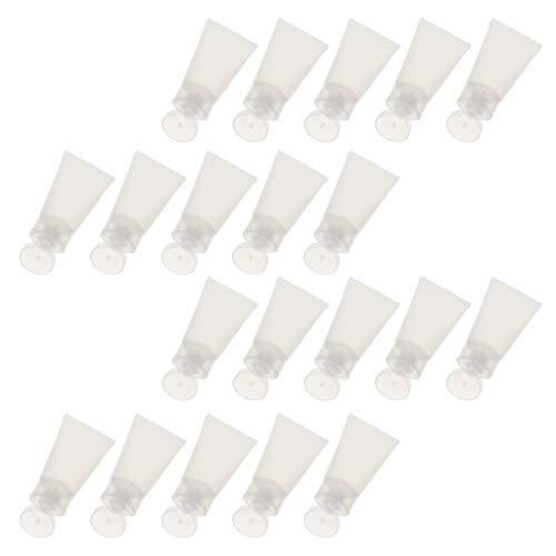 Homyl 20x 30ml Vide Cosmétique Tubes Maquillage Lotion Crème Conteneur Squeeze Bouteille Effacer Récipients de Crèmes Cosmétiques - Bouchon Transparen