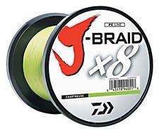 Daiwa J-Braid X8 0,10mm 57Kg 300m chartreuse Geflochtene Schnur