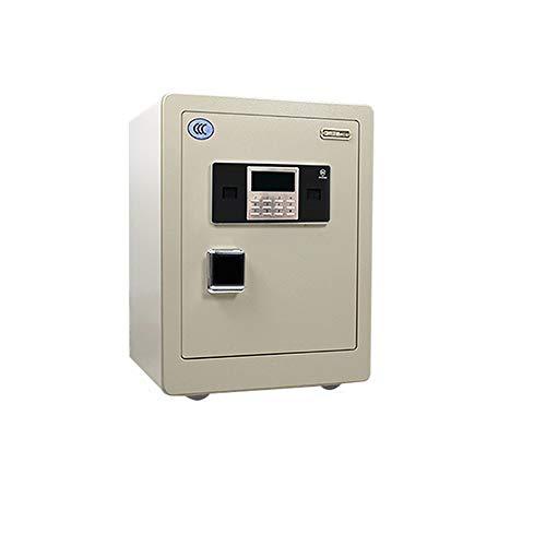 Safe Box Home Smart Safeall Acero antirrobo pared oficina electrónica contraseña segura para joyas, dinero en efectivo, portátil, oficina en casa (color: blanco, tamaño: S)