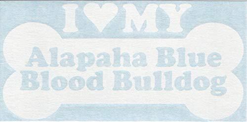 I Heart Love My Alapaha Blue Blood Bulldog - Dog Bone Pure Breed Cars Trucks Moped Helmet Hard Hat Surfboard Skateboard Auto Automotive Craft Laptop Vinyl Decal Store Window Wall Sticker 13026 2