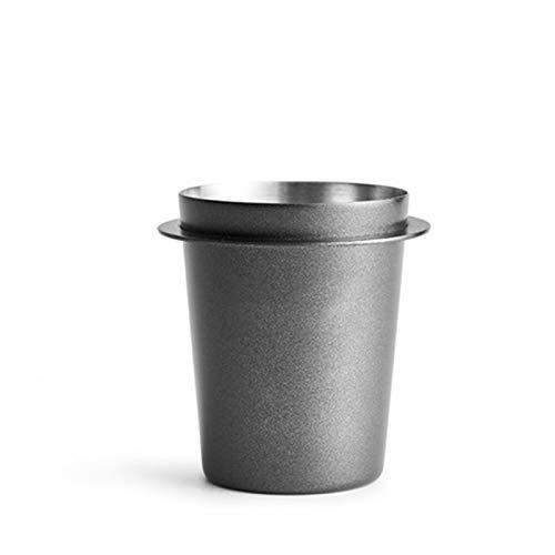 CCHAO 51/58mm Edelstahl Dosierschale Kaffee Schnüffeln Becher Pulver Feeder Fit Espressomaschine Portafilter Kaffee Tamper Pulver (Base Diameter : 58mm, Color : Black)