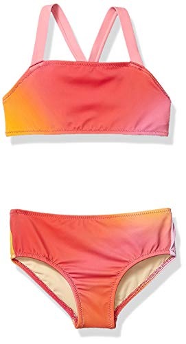 Amazon Essentials Girl's 2-Piece Bikini Set, Ombre Pink, X-Small