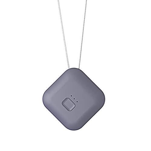 HXML Purificador De Aire USB Portátil Personal Usable Collar Ionizador Negativo Anión Limpiador De Aire Regalos para Tu Familia,Gris