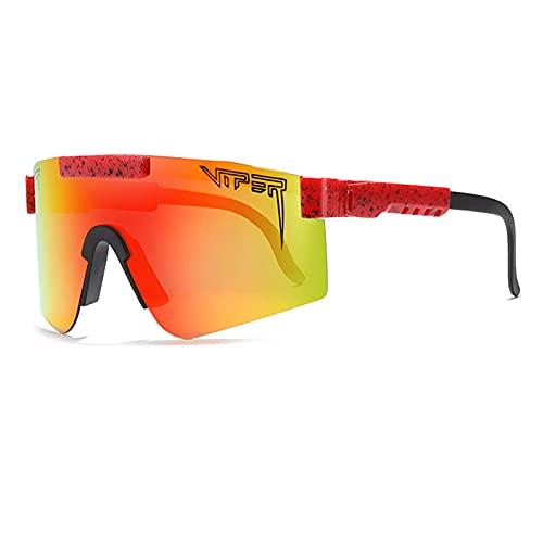 Gafas de sol deportivas polarizadas, lente TR90 marco UV400 lente de ciclismo para hombres y mujeres, senderismo, escalada, correr, al aire libre, resistente al viento (C9)
