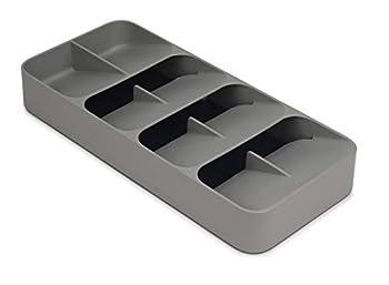 Joseph Joseph DrawerStore Compact Cutlery Organizer Kitchen Drawer Tray Large Gray