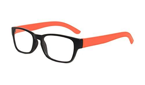 Rainbow safety Gafas de Lectura Mujer Hombre Marco Completo los Vidrios de la Lectura Florida MC2099 Naranja +3.50D