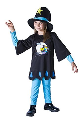 Ciao-Puffetta Streghetta Halloween Special Edition Costume Travestimento Bambina Originale Puffi (Taglia 2-3 Anni), Colore Azzurro, Nero, 14589.2-3