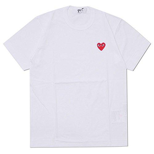 新品 コムデギャルソン COMME des GARCONS MEN'S RED HEART ONE POINT TEE Tシャツ WHITE (WHITE, XL)