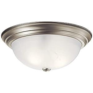 Kichler 8110NI Flush Mount 3-Light, Brushed Nickel