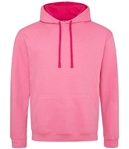 Cotton Ridge AWDis Varsity Hoodie : Color - Candyfloss Pink : Size - XXL