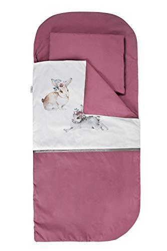 Sango Trade Nap 's Mat Slumber tas Hoeslaken Kleinkinderschlafsack Von 3 Bis 6-7 Jahre Schlafsack für Kleinkinder Krippe Kindergarten Zuhause Bettwäsche für Kinderbett (Hasen)