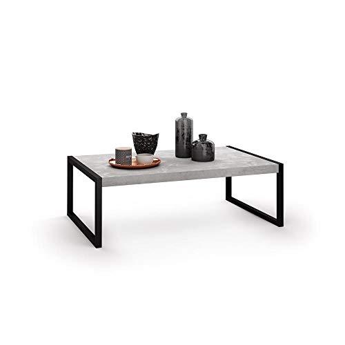 Mobili Fiver, Tavolino da Salotto, Luxury, Cemento, 90 x 55 x 30 cm, Nobilitato/Ferro, Made in Italy