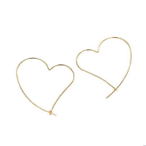 YAZILIND 925 plata esterlina hilos pendientes amor línea corazón pendiente para las mujeres finas joyas