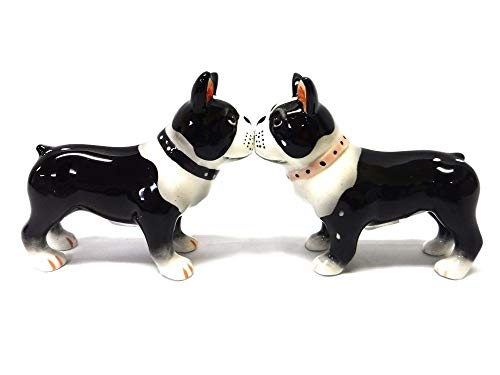 Pacific Giftware Salt & Pepper Shakers - Boston Terrier Pups Magnetic Salt and Pepper Shakers