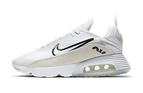 Nike Air MAX 2090, Zapatillas para Correr Hombre, White Black Lt Bone Pure Platinum Team Orange, 46 EU
