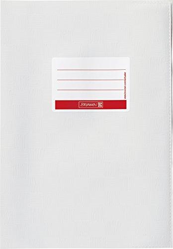 Brunnen 104052500 Hefthülle / Heftumschlag (A5, Folie, mit Namensschild) weiß