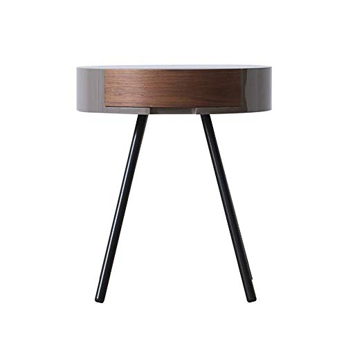 N/Z Living Equipment Wooden Side Table Round Coffee Table Small End Table...